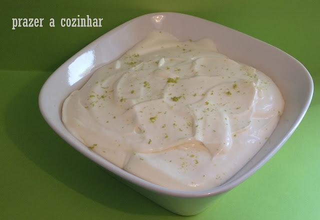 prazer a cozinhar - mousse de lima