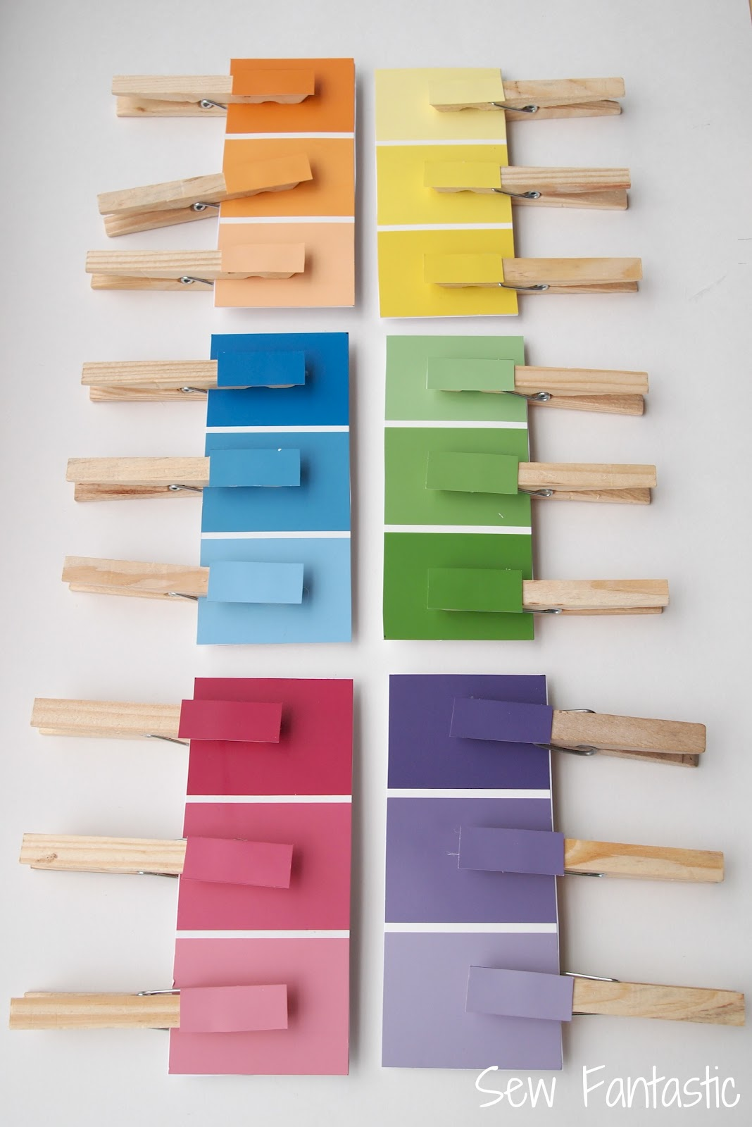 Sew fantastic paint chip matching game for Paint color chips