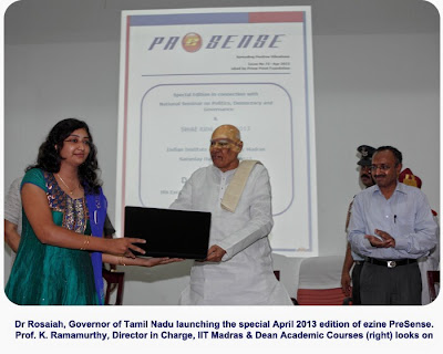 Dr K Rosaiah, Governor of Tamil Nadu launches special edition of ezine PreSense