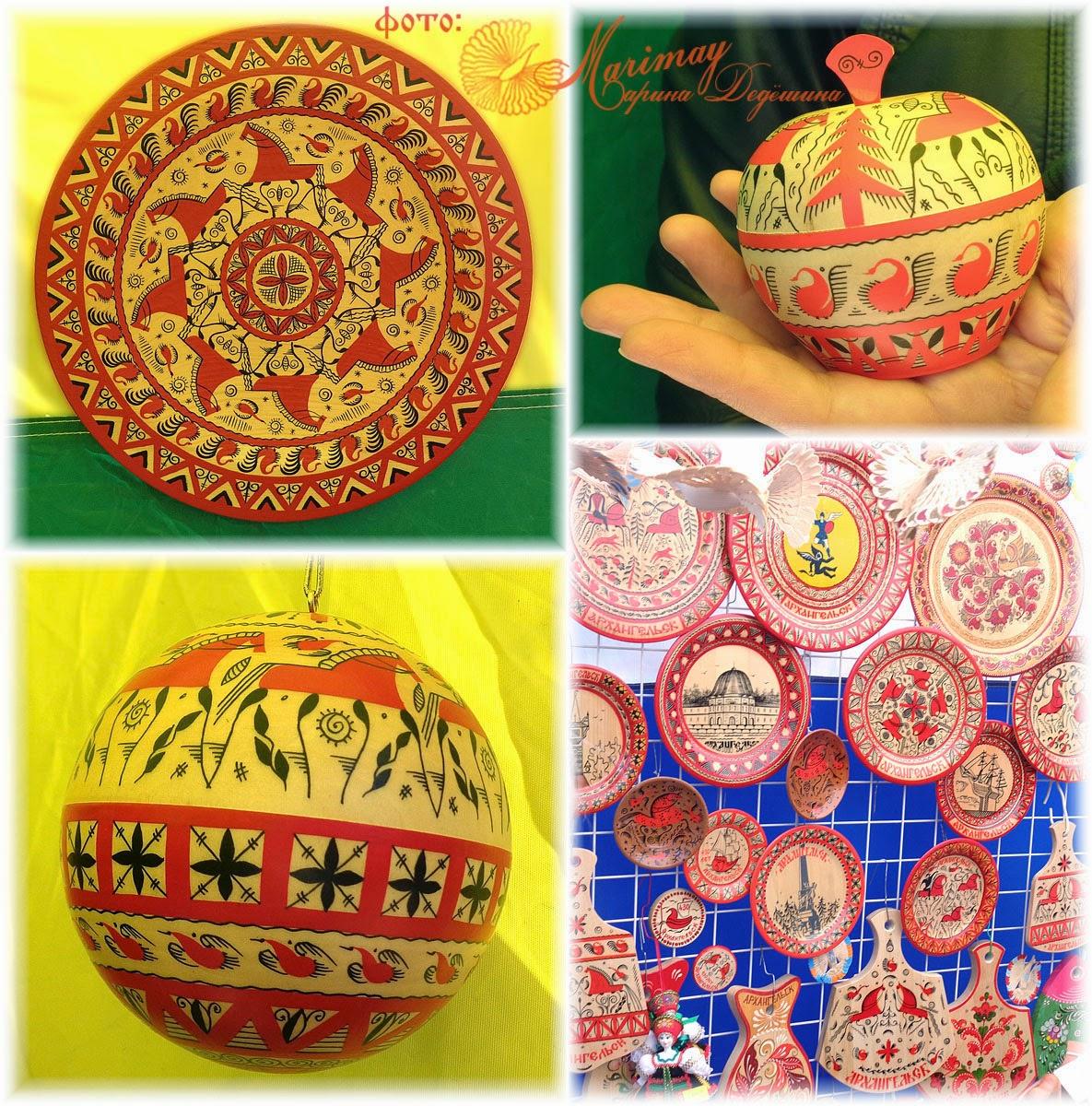 Мезенская роспись на яйце