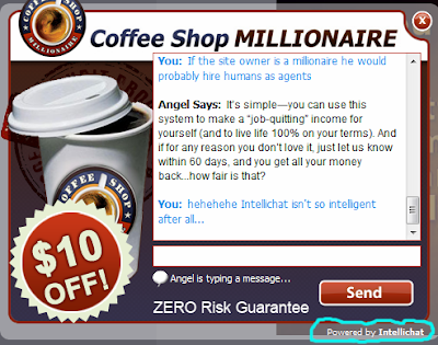 IntelliChat on CoffeeShopMillionaire