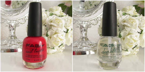 Faby Nail Laquer Red Reflex & Base&Top Coat