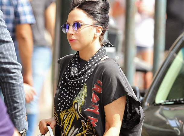 Lady Gaga Heads to a Brunch in New Orleans