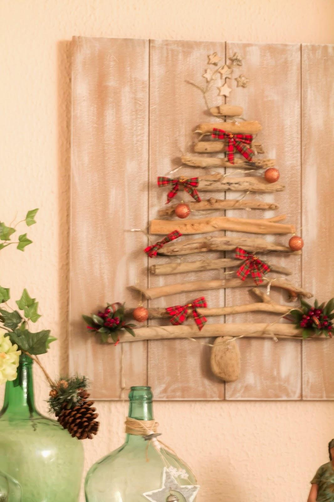 Vicky 39 s home diy rbol de navidad con madera de deriva - Arbol de navidad sencillo ...