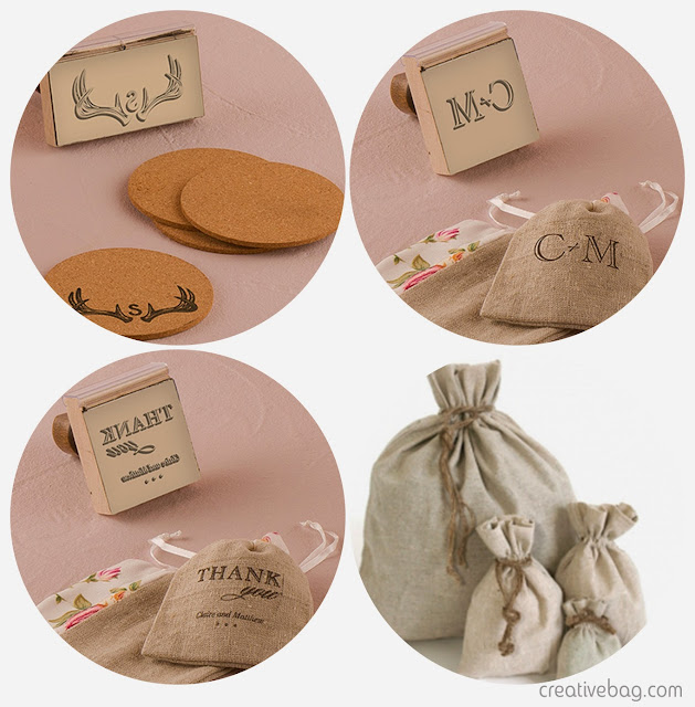 custom stamps and favor bags | Creative Bag