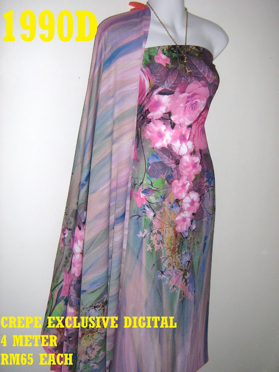CP 1990D: CREPE EXCLUSIVE DIGITAL PRINTED, 4 METER
