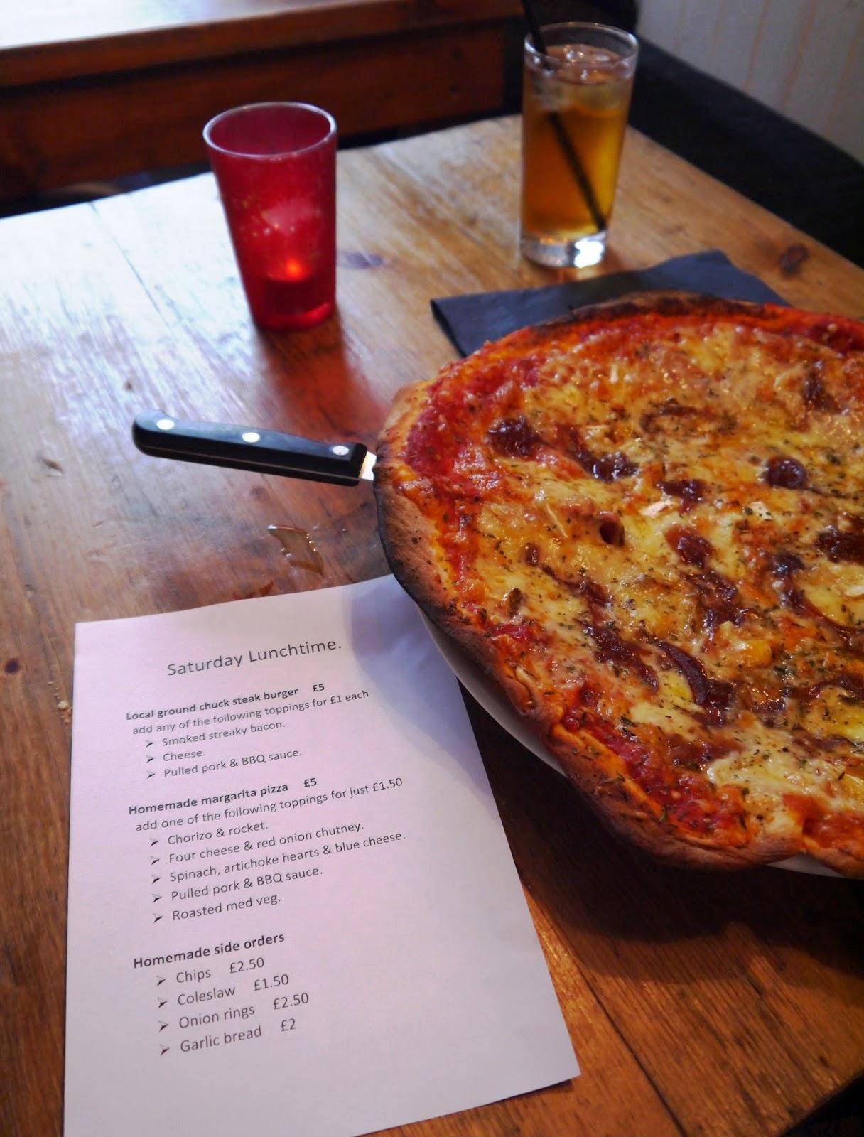 Pizza at SW Blog Social at The Oddfellows Bar