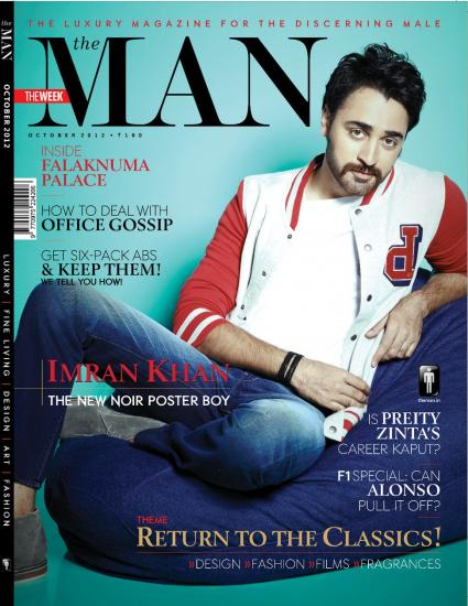 Imran Khan on the cover of The Man [October 2012]