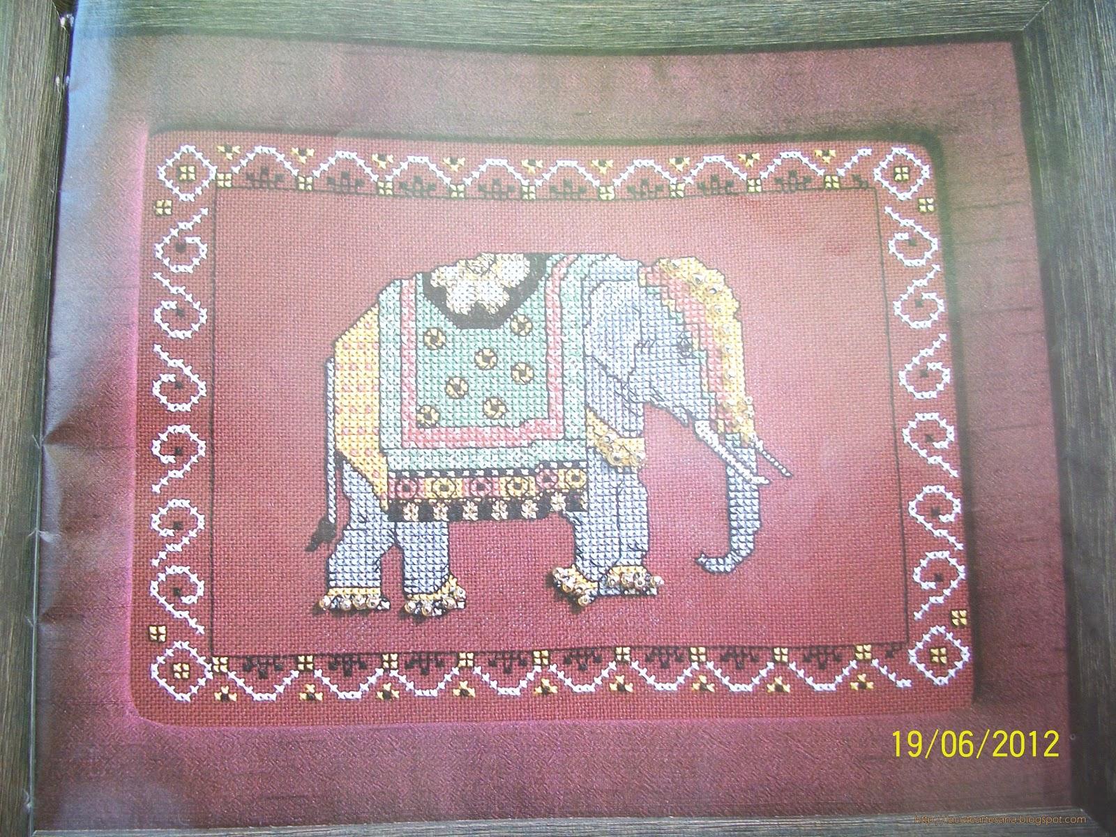 Elefante Hind   En Punto De Cruz