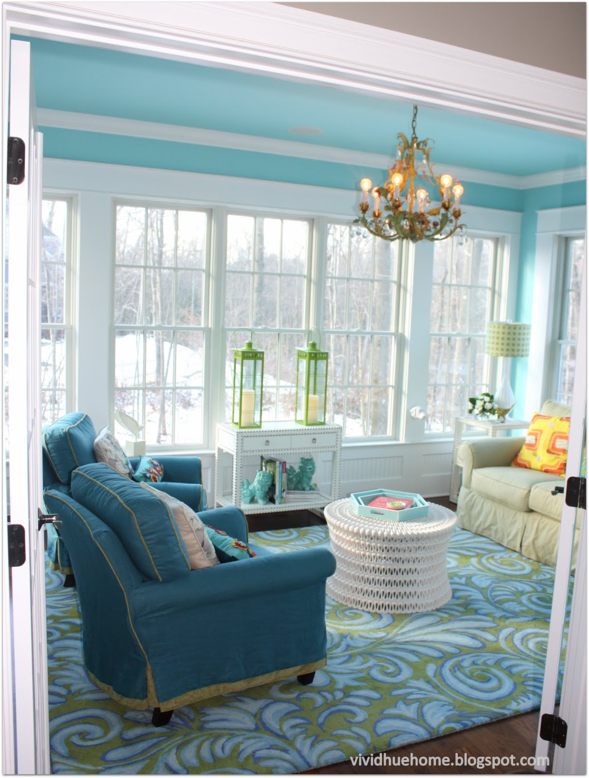 Vivid hue home house tour sun room for House sunroom