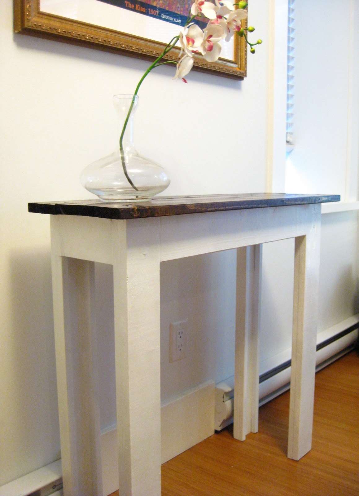 life designed diy console table. Black Bedroom Furniture Sets. Home Design Ideas