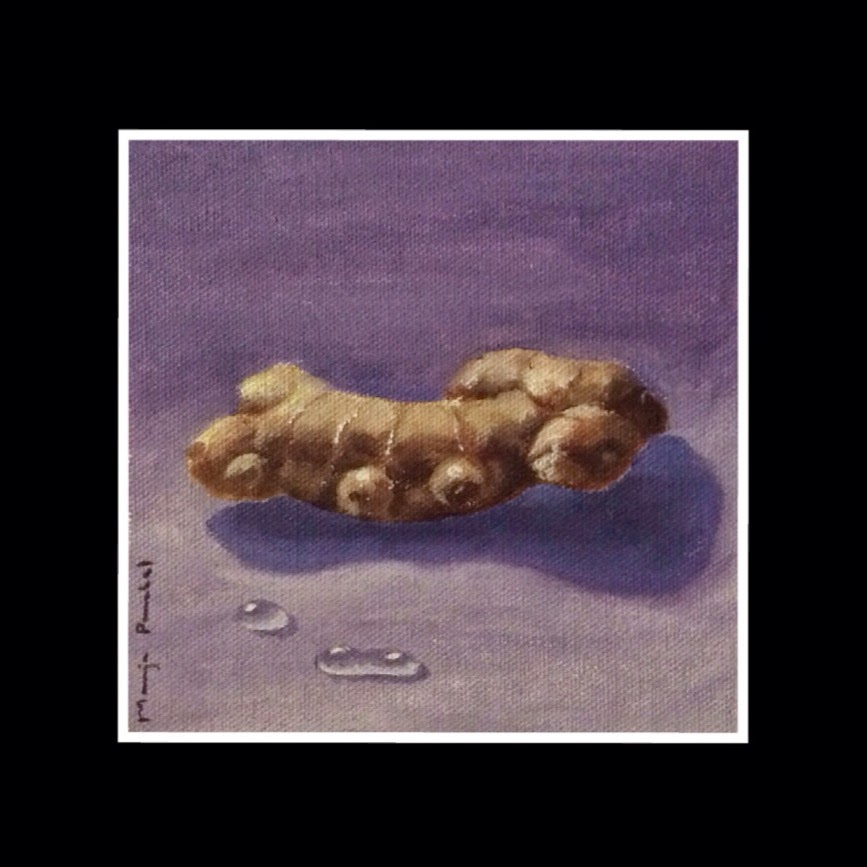 "oil painting of ginger on 6"" X 6"" canvas by Manju Panchal"