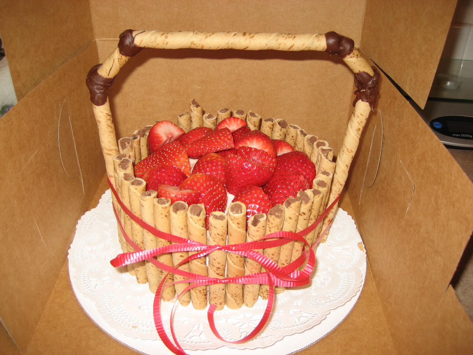 My Homemade Adventure: Strawberry Basket Cake