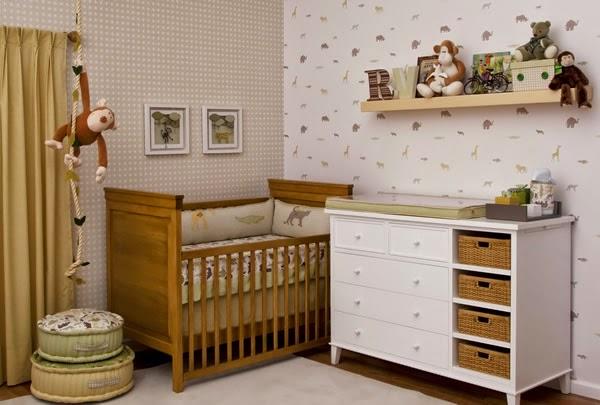 Decoracao Xadrez Para Quarto De Bebe ~ Decora??o de quarto de bebe com papel de parede