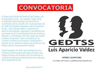 CONVOCATORIA GEDTSS 2013