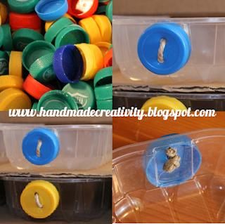 riciclo tappi plastica bottiglia maniglie cassetti