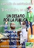 Acto de calle por la matriculación en la escuela pública