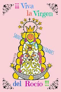 Virgen del Rocío naif #Domingosilustrados