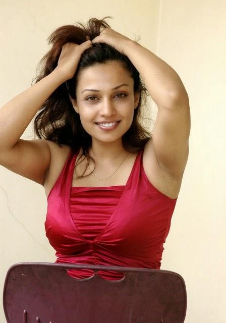 Asha Saini Hot Spicy Photos In Red Top