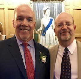 Bill Tieleman & BC NDP Premier John Horgan