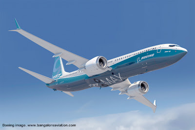 Boeing 737 MAX-9 firm concept rendering with dual winglets