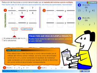 http://www2.gobiernodecanarias.org/educacion/17/WebC/eltanque/todo_mate/fracciones_e/ejercicios/fracciones_mcm_p.html
