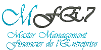 .:MFE7:. Master Management Financier de l'Entreprise