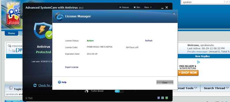 advanced systemcare 2013 license key