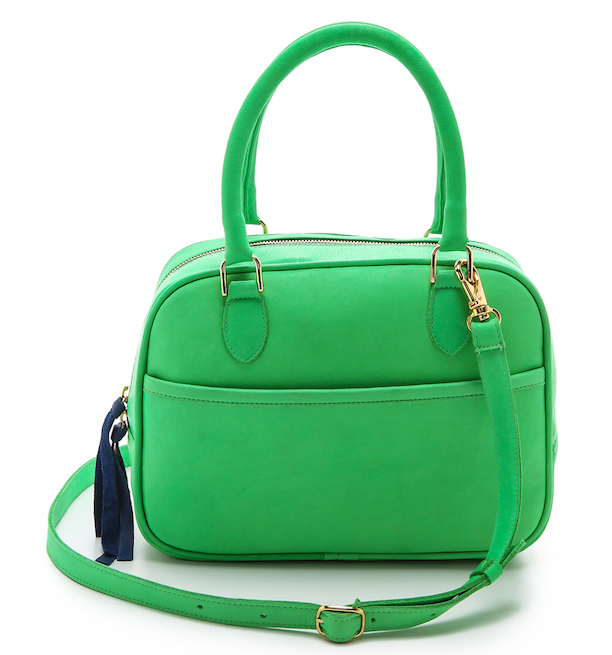 Maison Madeleine Crossbody In Bright Green Clare V