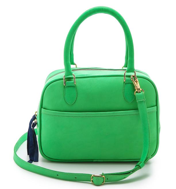 Maison Madeleine Crossbody In Bright Green Clare V