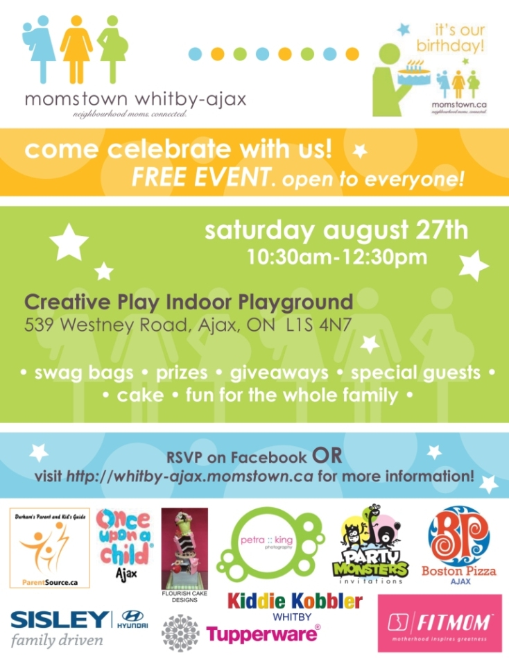 ... and Ajax: Free Durham Region Family Event - momstowns Birthday Party