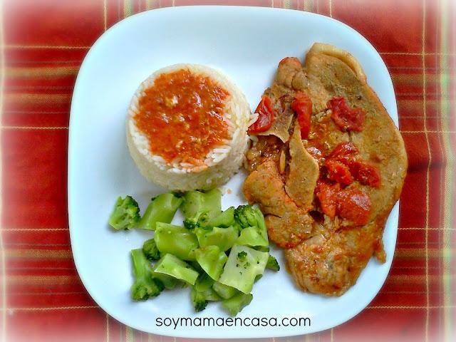 receta facil de chuletas con salsa de tomate casera easy recipe pork chops