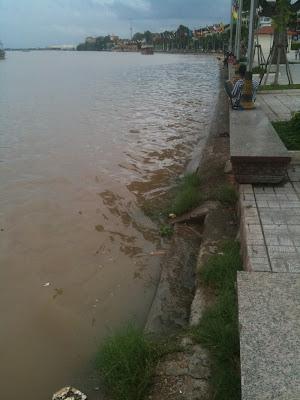 Phnom Penh riverfront, Cambodia, Sept 24, 2011