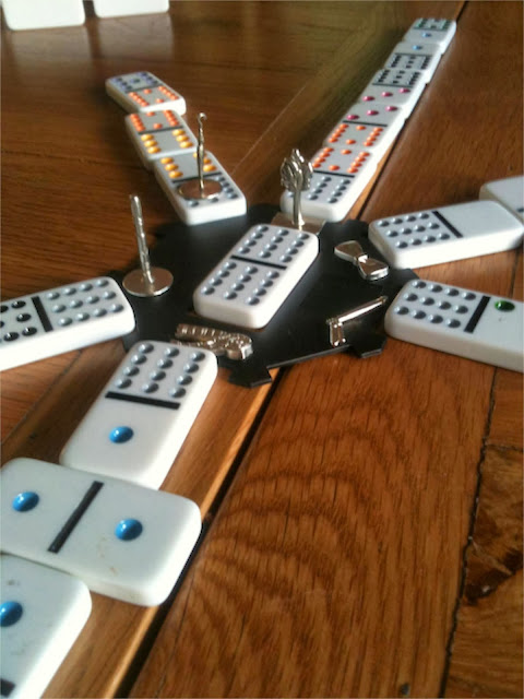 Mexican Train with double 12 dominoes