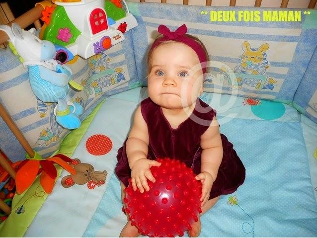 balle rose bébé