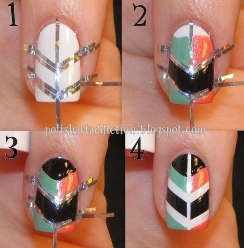 nail art geometrica unghia motivi geometrici geometrical