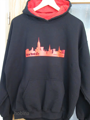 Sweatshirt mit Thermotransferfolie New York