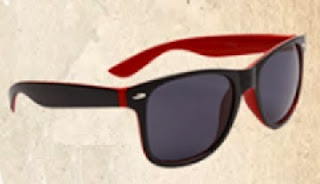 Red/Black Summer Wayfarer Sunglasses