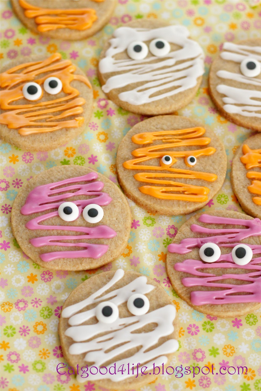 100 whole wheat halloween sugar cookies