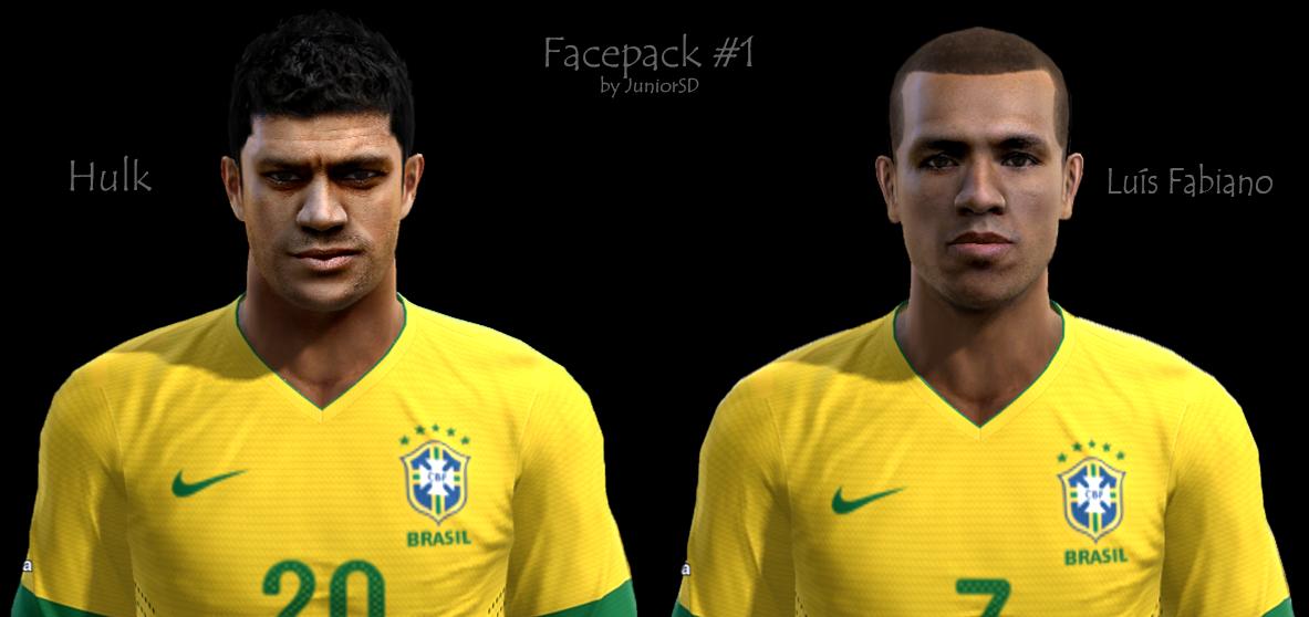 Hulk e Luís Fabiano Faces - PES 2013