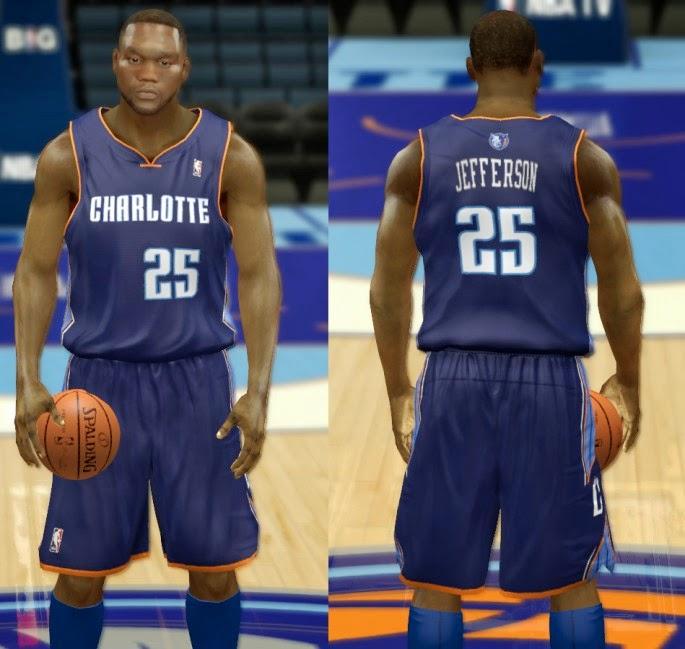 NBA 2K14 Charlotte Bobcats Jersey Mod Pack