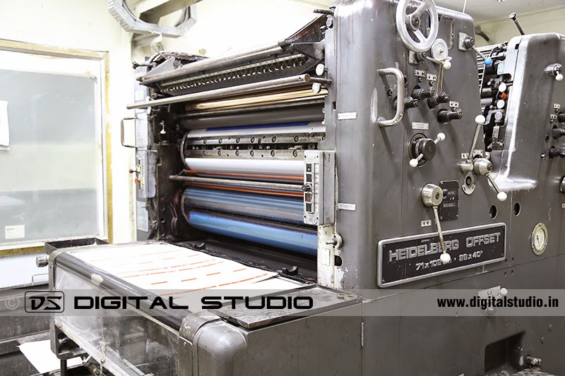Four colour carton printing machine