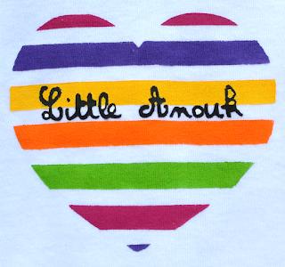 body 6 mois little coeur rayé prénom personnalisé