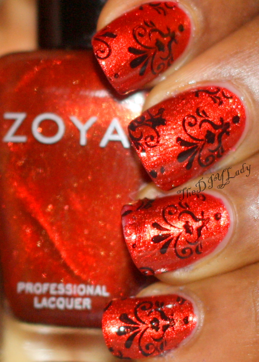 The Do It Yourself Lady: Nail Art: Damask Design from Pueen23 + Zoya ...