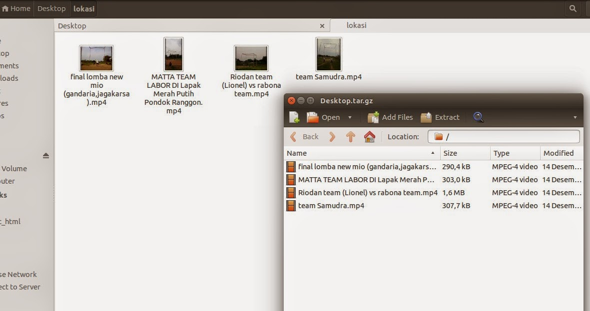Cara Ekstrak File tar.gz tar.bz2 dan zip Di Terminal Ubuntu
