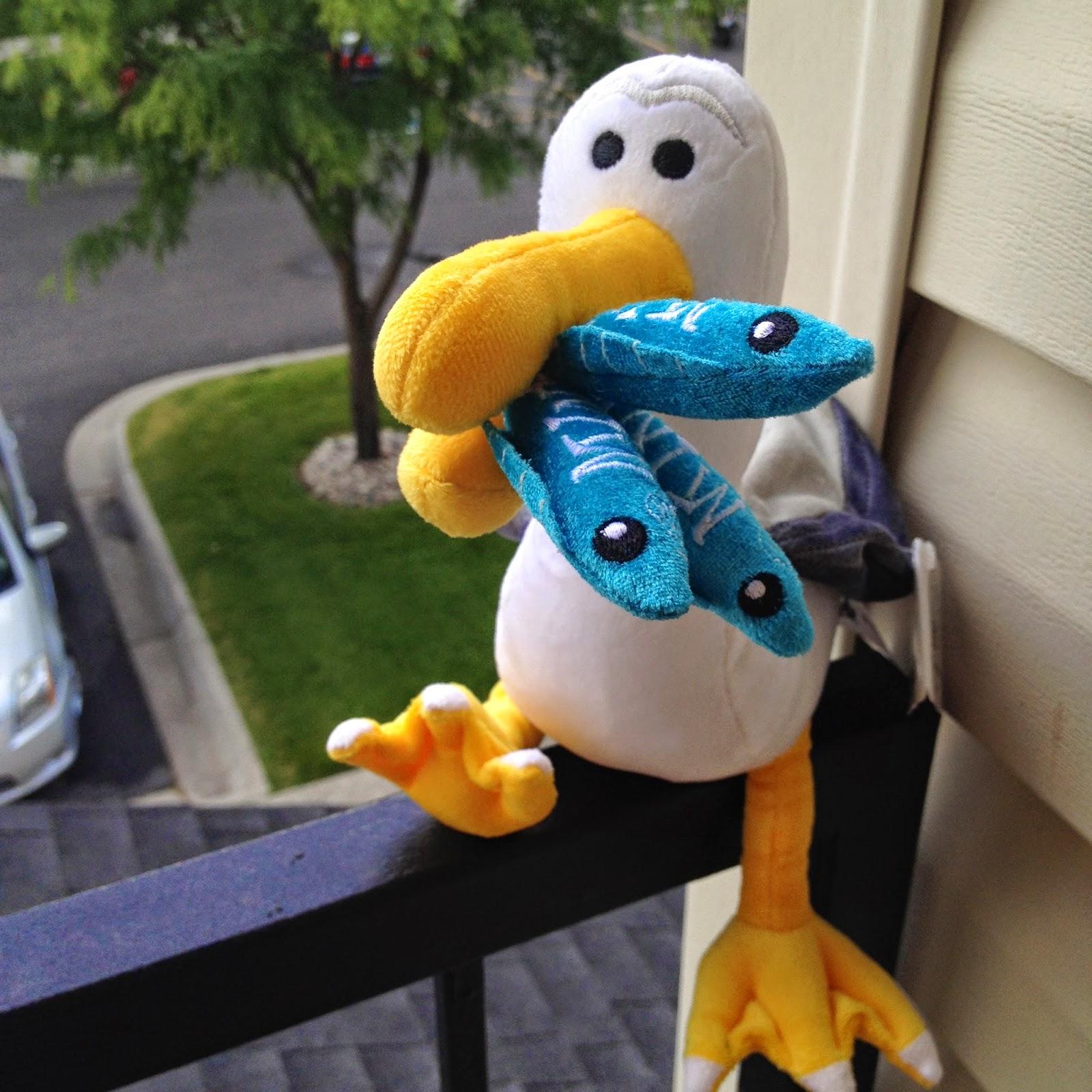 dan the pixar fan finding nemo mine mine mine seagull plush