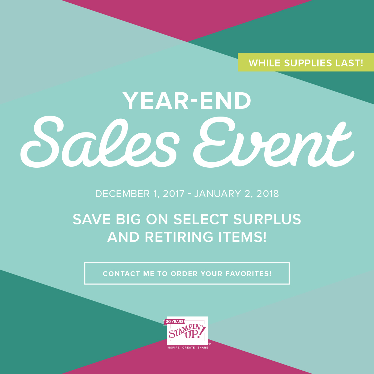 YEAR-END SALES EVENT!