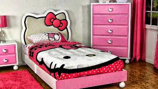 Gambar Kamar Tidur Hello Kitty Desain 2015 Lucu