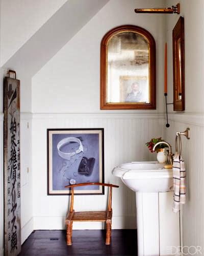Baño Pequeno Vintage:Si os gusta el estilo vintage, un espejo de estas características