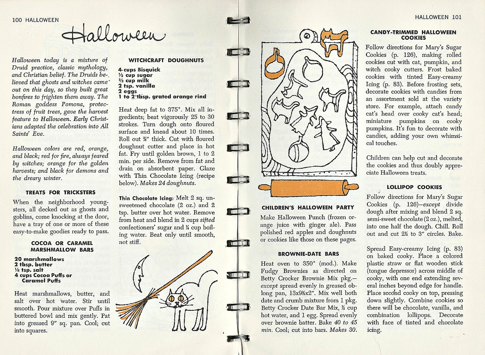 lots of different halloween recipes games and centerpieces different holidays in the book but the following pages are for halloween lots of sugar and - Halloween Following Directions